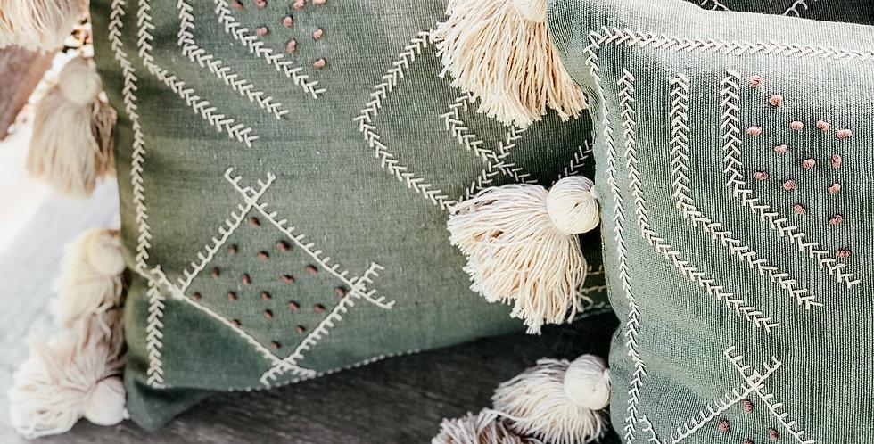 Putri Cushion Cover - Sage Green