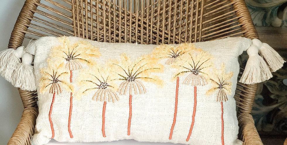 Oblong Floral Cushion Cover
