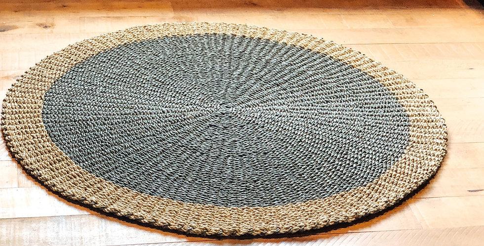Seagrass Round Indoor Rug - Grey
