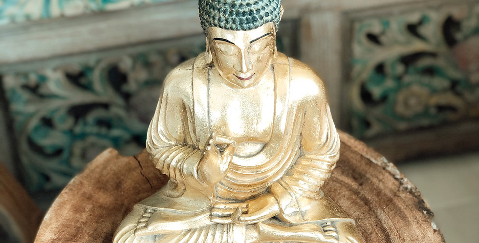Gold Resin Buddha