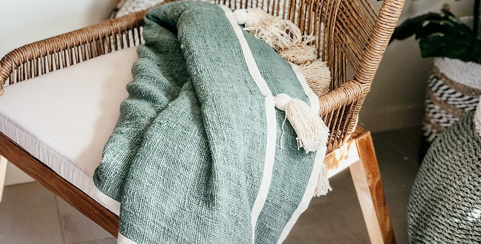 100% Cotton Kayla Throw - Sage Green