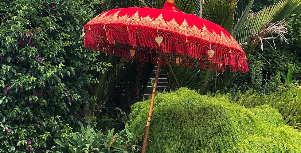 Red Cotton Umbrella