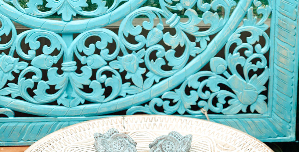 Carved Wall Panel - Aqua