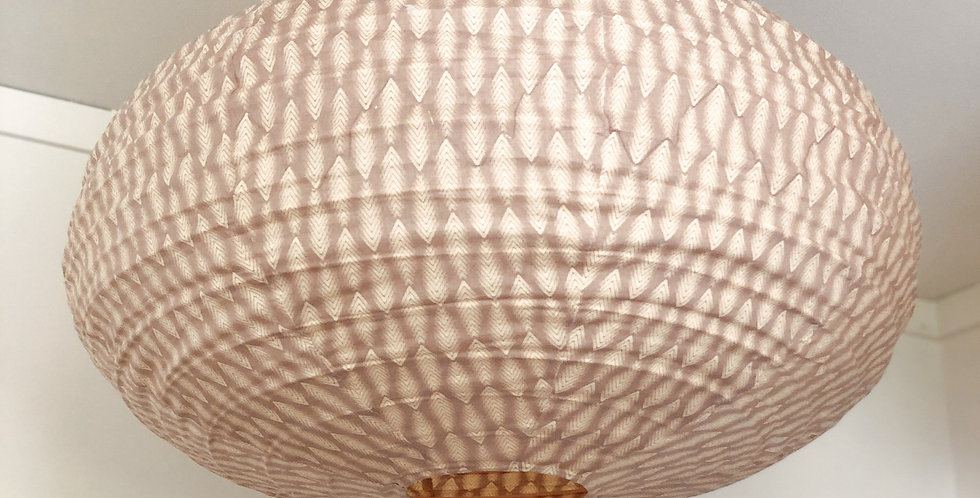 Pink Cotton Oval Light Shade
