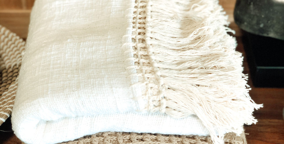 Cotton Throws with Tassels