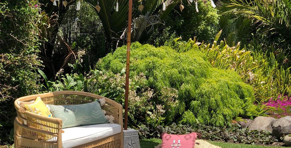 Cane Sofa With Cushion