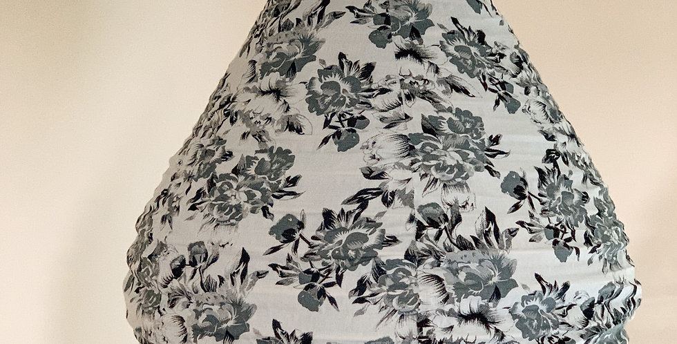 White Floral Cotton Light Shade