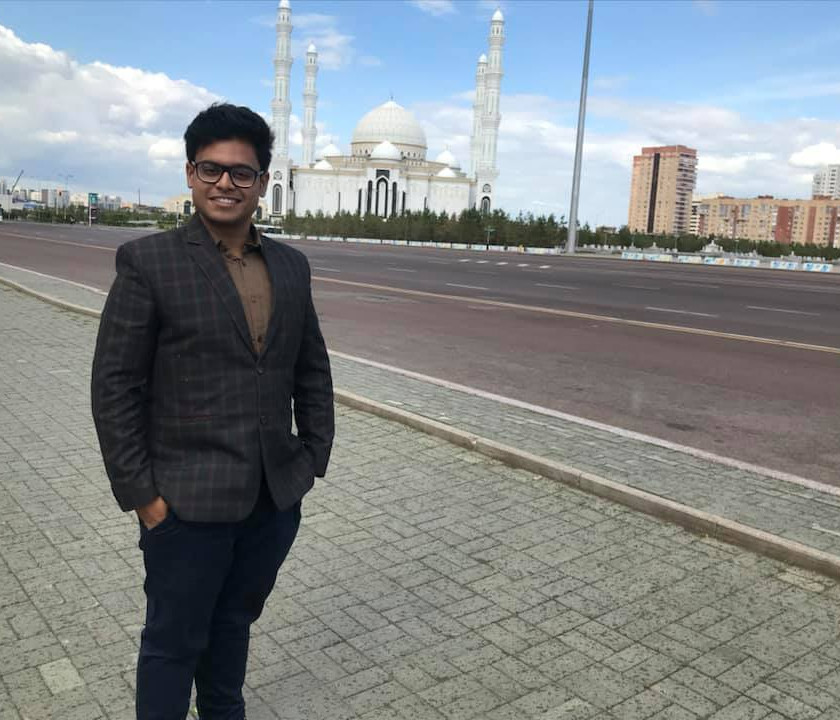 It is a classic Islamic style Mosque topped with Kazakh ornaments which as the capacity to hold 10 Thousand people at a time.