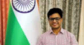 Mohit Srivastava, Mohit Shrivastava with Indian National Flag