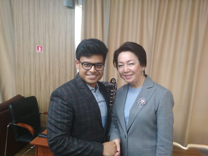 Meeting with Ms Daniya Yespayeva in Kazakhstan