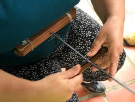 pulseras_tejido en hilo telar y tejido e