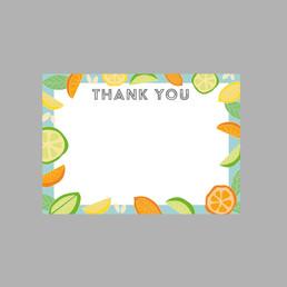 Fruit Print Thank you cards
