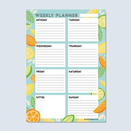 Fruit Weekly Planner