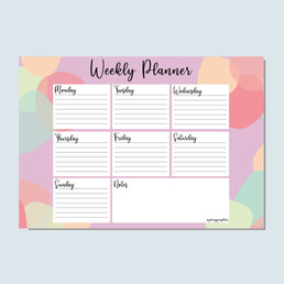 Spotted Weekly Planner