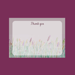 Wildflower Thank You cards