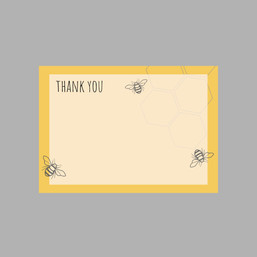 Bee Print Thank you cards