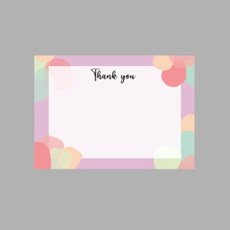 Spotted Print Thank you cards