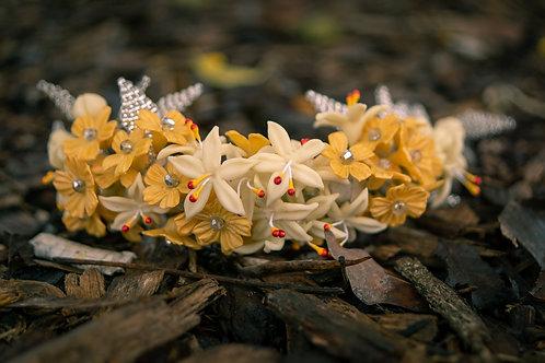 Vincha Mar de Flores Amarillas