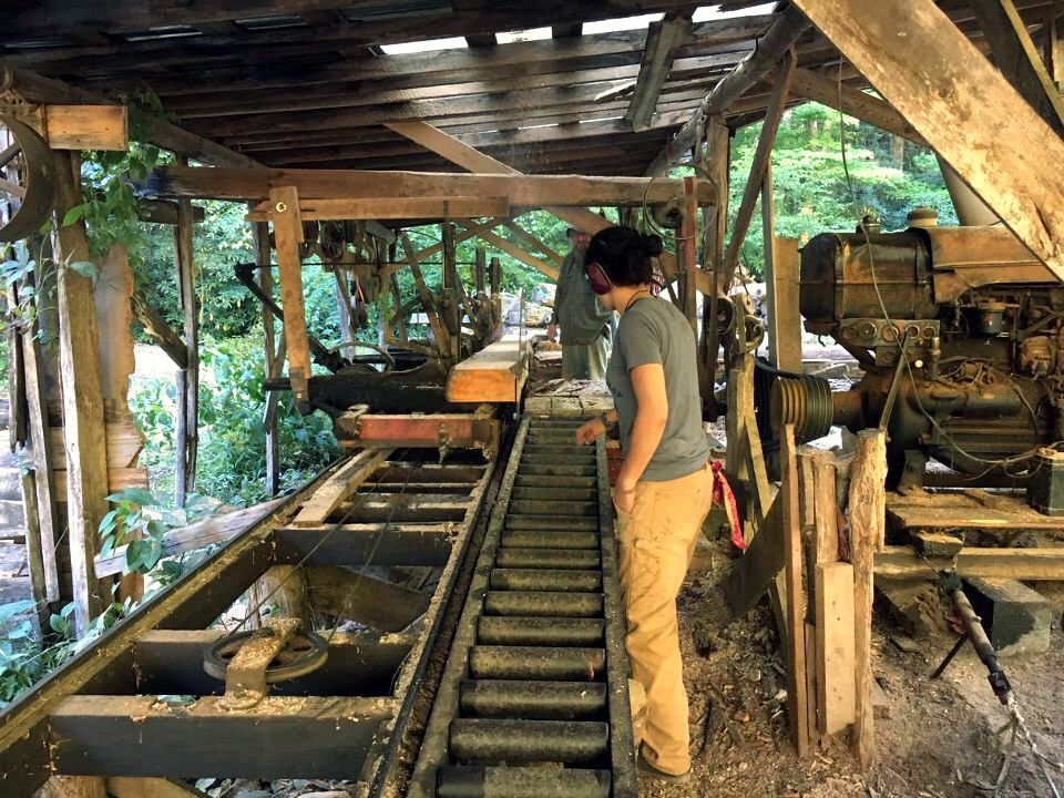Working the Saw Mill