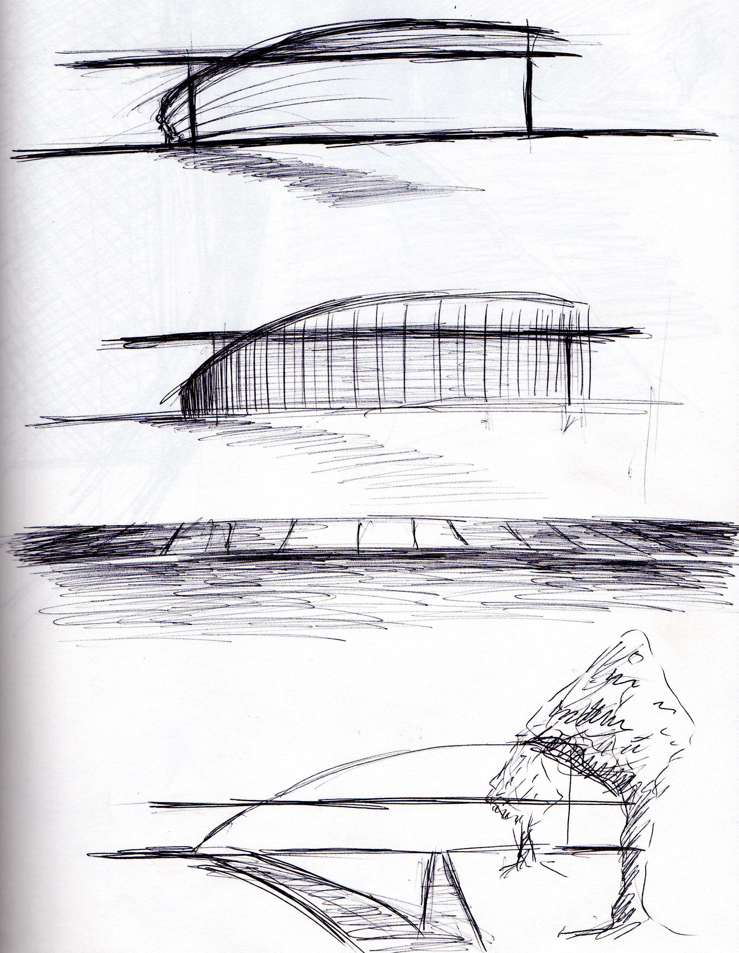 Site Sketch- Facade and Circulation