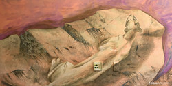 Detail of Mountain Lion on Cliff