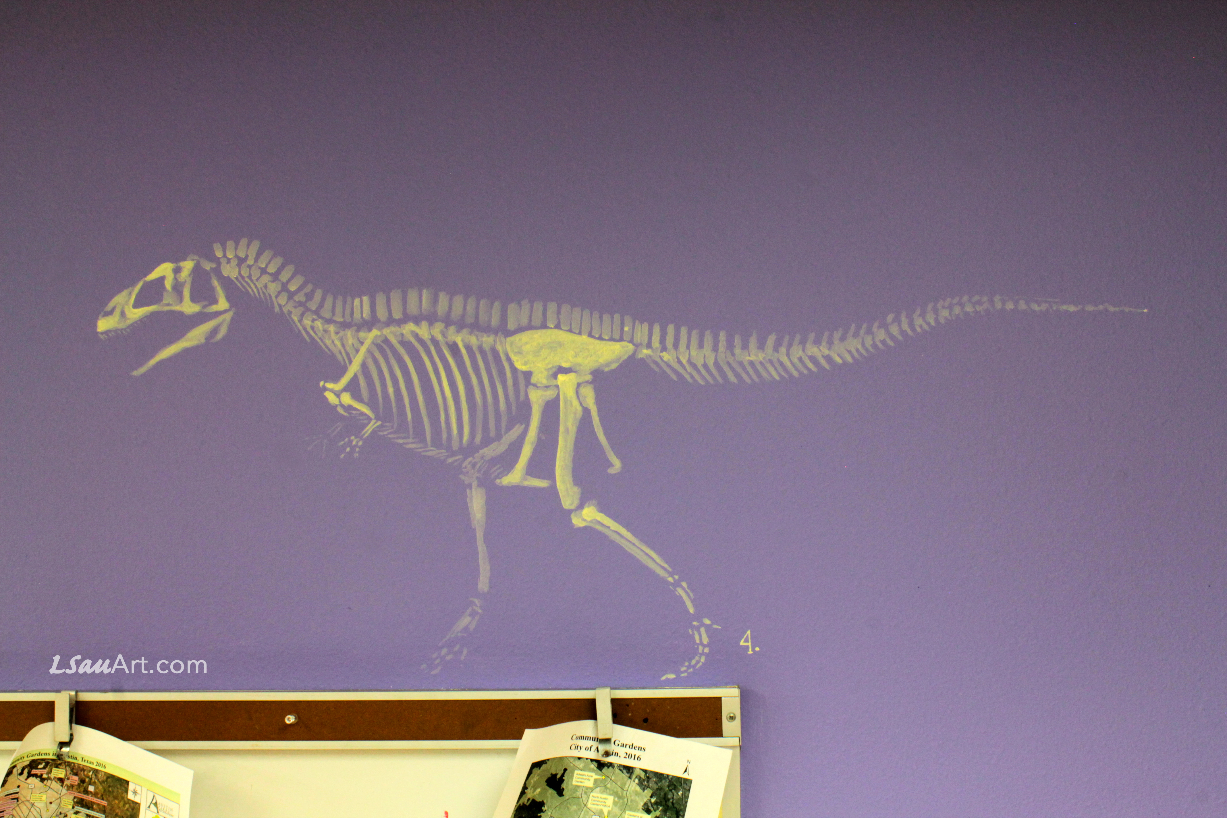 Detail: Acrocanthosaurus Fossil