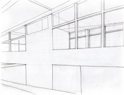 Perspective Drawing- View To Offices