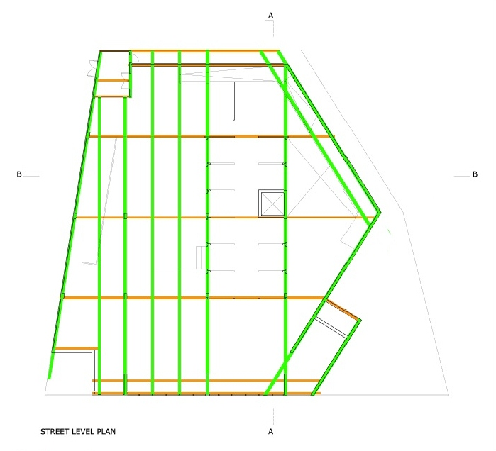 Structure Diagram- Street Level Plan