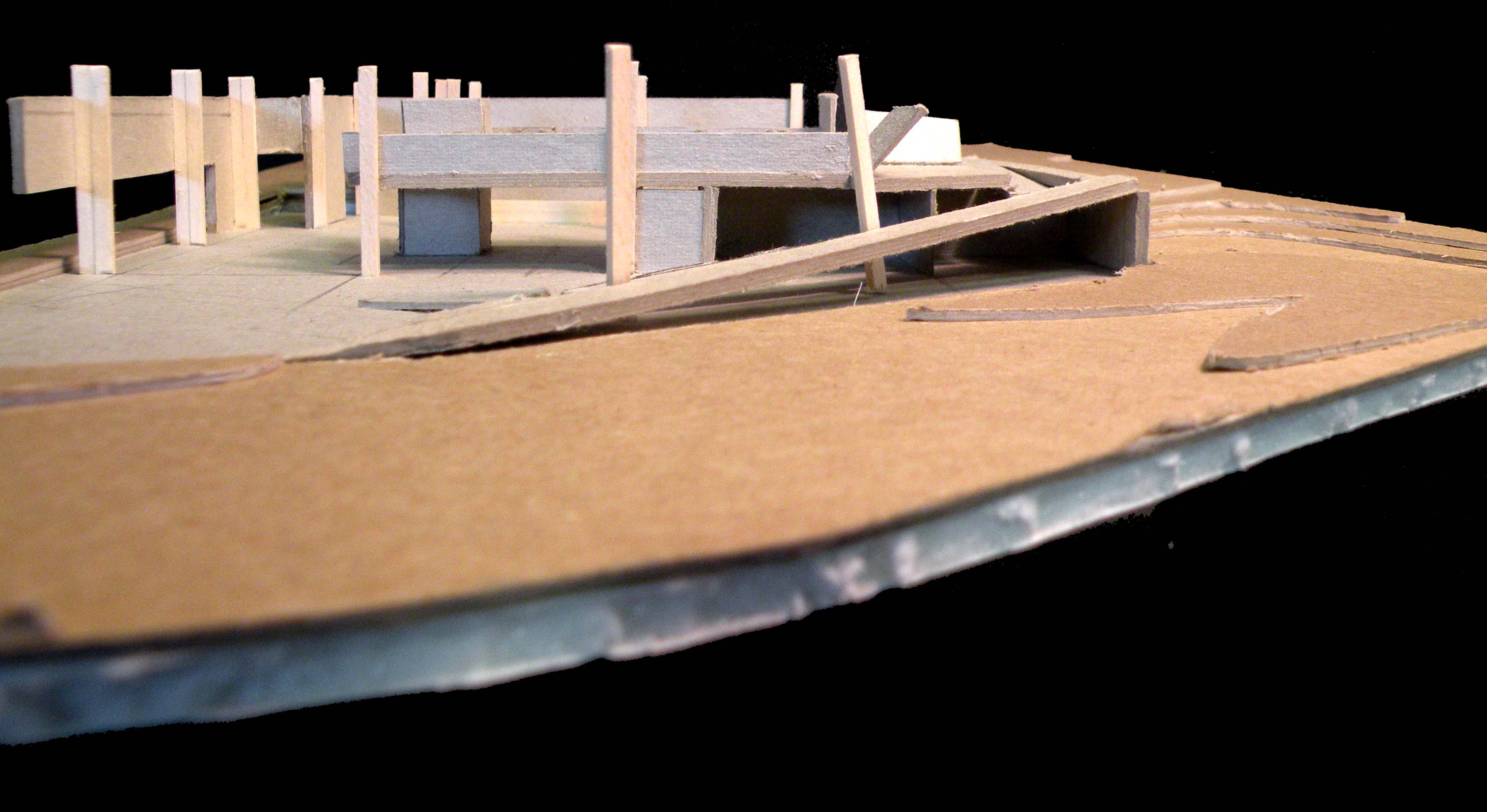 Space and Topography Model- East