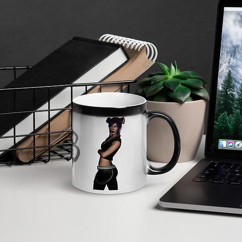 Vintage Pinup Style Glossy Magic Coffee Mug