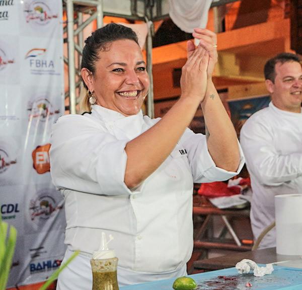 Grace Trankels participou da Cozinha Show no Festival Sabores de Itacaré / Foto: Agência Andrade