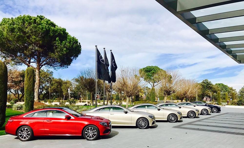 Pressepräsentation der neuen Mercedes Benz E-Klasse in Barcelona