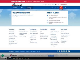 Tutorial: How to Complete Your Carnival On-line Check-in