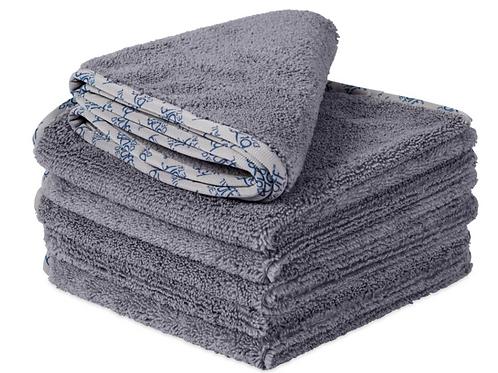 16X16 Buff Detail 400 Microfiber Towel Gray