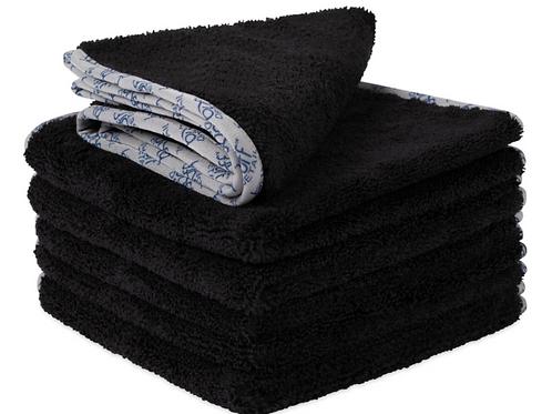 16x16 Buff Detail 400 Microfiber Towel Black