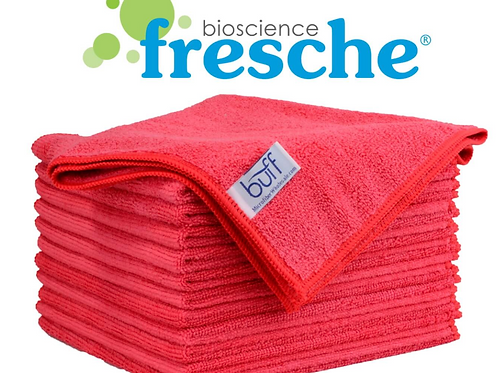 16x16 Antimicrobial Towel Red