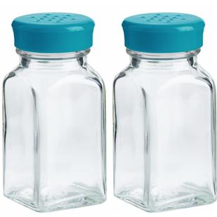 Teal Salt & Pepper Shakers