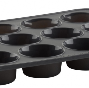 Gray Silicone Muffin Pan