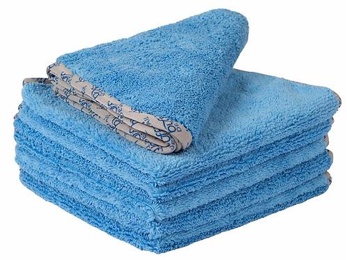 16x16 Buff Detail 400 Microfiber Towel Blue
