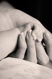 Las manos pequeñas y grandes
