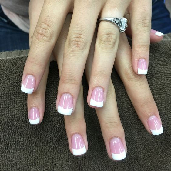 Pink and White Dipping Powder