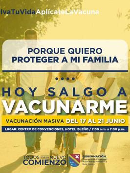 EPS Sanitas y Nueva EPS vacunarán masivamente habitantes de San Andrés