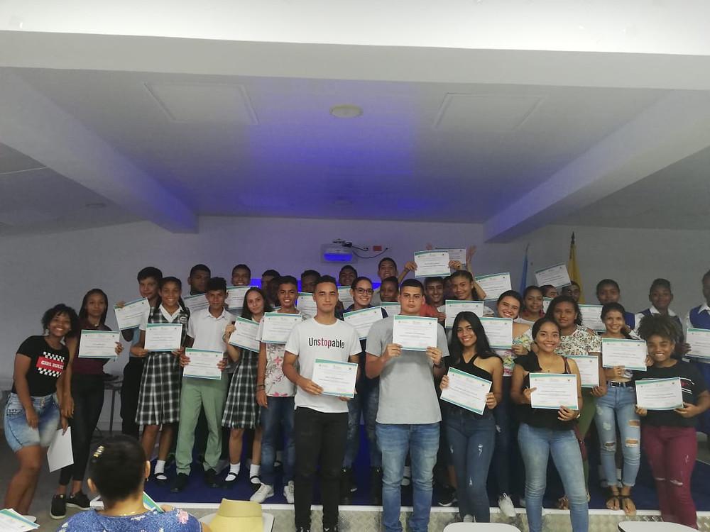 Estudiantes que participaron en San Andrés