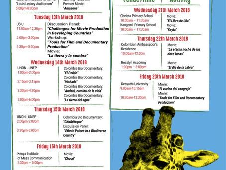 Embajada de Colombia en Kenia realiza muestra de cine colombiano