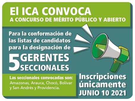 El ICA abre convocatoria para cinco gerentes seccionales, entre ellos San Andrés