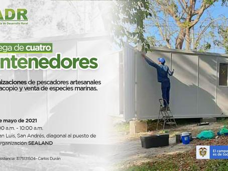 La ADR entregará cuatro contenedores a organizaciones pesqueras de San Andrés