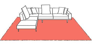 tappeti vintage, tappeto sotto divano, tappeti iran, tappeti cucina
