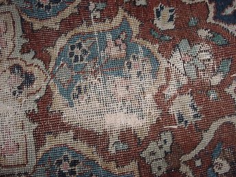 fiore disegno rovinato tappeto