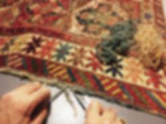 restauro bordi tappeto