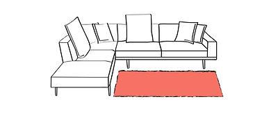 tappeti grandi per salotto, tappeti piccoli divano a L, divano moderno, divano letto, tappeti pelo corto, tappeti invecchiati